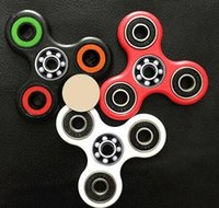 Wholesale 100 Stocks Hand Spinner Triangle Tri Fidget Ceramic Ball Desk Focus Toy EDC For Kids Adults Finger Spinning Top