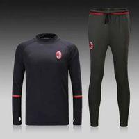 Wholesale Custom Made in Thailand Quality Latest AC Milan Black Training Dress Ball Set