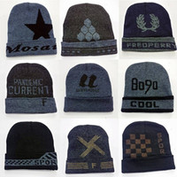 Cheap Multicolor Men Wool Knitted Hat Cap Winter Jacquard Beanies Casual Outdoor Warm Cashmere Hat DHL Free Shipping