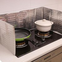 al por mayor aluminum cooker-Aceite de cocina Protector contra salpicaduras Estufa de gas Quemador de aceite Eliminación de escaldado Prueba de la tabla de cocina también Todos los deflectores de aceite placa de aluminio placa de ayuda h137