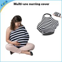 Wholesale 5pcs small stretchy Kniting fabric in multi uses baby car seat cover nursing scarf