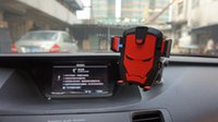 auto glass suction cups - Car Phone Holder Smartphone Accessories Mount Stand Auto Dashboard Suction Cup Windshield Glass Iron Man dashboard car holder
