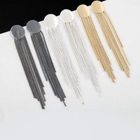Wholesale 3 Pairs Trendy Long Earrings For Women Silver Gold Plated Alloy Tassel Drop Earring Punk Fashion Party Jewelry Colors