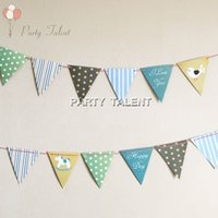 Wholesale Party supplies set lovely bird and horse DIY paper flags banner includes flags and a m string birthday party decoration
