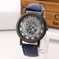 auto expressions black - Fashion hollow out belt watches not mechanical expression couple watch men and women