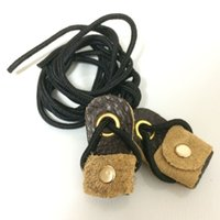 archery longbows - New Archery Bow String Stringer Leather Winding Black Rope Cord For Recurve Bow Longbow Bow Stringer Accessories