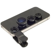 Wholesale Fisheye Lens in mobile phone clip lenses fish eye wide angle macro camera lens for iphone s plus s