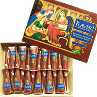 art cone - High Quality g Natural India Brown Color Herbal Henna Cones Waterproof Temporary Tattoo kit Body Art Paint Mehndi Ink