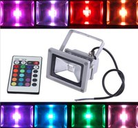 Wholesale Colorful w RGB LED Flood Light Landscape Lamp Remote Control Low consumption high brightness Waterproof LED Floodlight