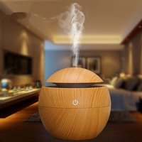 No appliance switches - Portable Essential Oil Diffuser Mist Maker Ultrasonic Aroma Humidifier Wooden Aromatherapy USB Air Home Appliances Color Change LED light