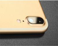 al por mayor teléfono cubre pegatinas-Iphone screenTempered cristal de la cámara de protección de la lente trasera de la película de protección trasera cubierta del teléfono de la etiqueta para el iPhone 7 7 más anillo de metal