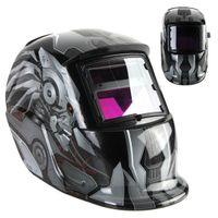 Wholesale Transformers Style Cool Auto Darkening Solar Welding Helmet ARC TIG MIG Weld Welder Lens Grinding Mask PIT_104