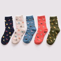 Wholesale 3D Cartoon Sock Winter new fashion Korea creative cartoon life food sushi watermelon male and female short tube cotton socks