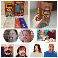 Wholesale Hot Sale Speak Out Game KTV Party Game Cards Watch Your Mouth Funny Board Party Mouthguard Guess Words Game Amusement Toys CCA5293