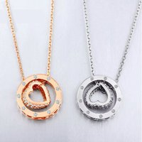 angels diamonds - 925 Silver Jewelry Angel Necklaces For Women Hip Hop Necklaces Pendant Necklace Jewelry Ring Gilt Fashion Heart Ring Diamond Necklace