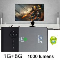 DLP android project - C2 Smart dlp Pocket mini projector full hd Portable Wifi Project Android OS G G LED home cinema bluetooth4 projector mini pc