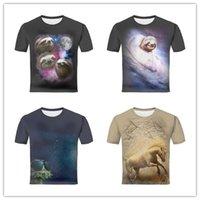 Paracaidismo España-Diseño de la camiseta de los hombres 3d Cielo estrellado en estrellas brillantes del invierno y nebulosas coloridas Paloma blanca que vuela en cielo azul claro Impresión manga corta camisetas