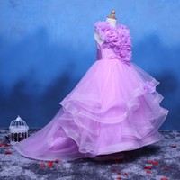beauty birthday cake - Sell like hot cakes Real photo High quality Purple Kids beauty pageant dresses Kids evening gowns