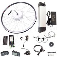Wholesale 2016 Hot Sale Cheap Electric Bicycle Kit Bicycle Motor Kit With V Battery W Brushless Motor Wheel Kit CK BT01