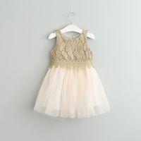 american ball dresses - Hug Me Girls Dress Kids Clothing Summer Embroidery Lace Tutu Dress Fashion Sleeveless Vest Flower Princess Dress EC