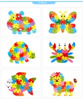 Wholesale Kid Toy Education Toy Children s Early Learning Jigsaw Puzzle Animals Letter Puzzles Puzzle Building Blocks Recognition Wooden Toys