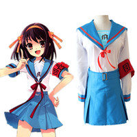Wholesale Suzumiya Haruhi cosplay costumes Japanese anime The Melancholy of Haruhi Suzumiya clothing Masquerade Mardi Gras Carnival costumes