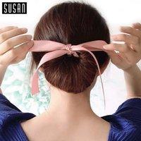 1PC moda Magic herramientas espuma esponja desordenado Donut Bun Hairstyle arcos Headwear elástico pelo trenzadoras Accesorios Mujer Lady Girl