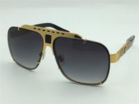 al por mayor gafas con montura cuadrados-Las nuevas gafas de sol de la marca de fábrica de los hombres platean los anteojos plateados oro del metal del estilo diseñan las gafas de sol de la vendimia 08099 lente UV400 de calidad superior