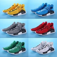 Wrestling Flat Women Hot Sale Originals HU MAN NMD Pharrell X Human Race NMD Sports running Shoes Runner sky blue Red Athletic sneakers Fashion Casual Trainers