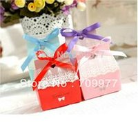 Wholesale 20 Sweet Boxs Love Pink Paper Jewelry Package Present Gift Box Case Xmas