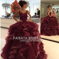 beads pattern for gown - Burgundy Ball Gowns Lace Applique Quinceanera Dress Elegant Scoop See Through Vestidos De Festa Longo Sweet Dress For Girl