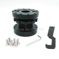 adjustable spacer - Spacer Adapter Extender Brand New black Adjustable Steering Wheel Boss Kit to mm