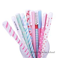 Wholesale pieces Lovely Gel Pen Set Kawaii Pen Colors Colored Pens For School Office Stationery Cute Gel Pens Kit