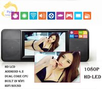 Wholesale LD A Android portable player Large screen HD LED Dual speaker Dual core CPU all digital remote control Multimedia player