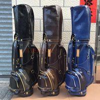 Wholesale 2017 men fashion bear golf bag limit sale brand golf ball bag stand pu club bag