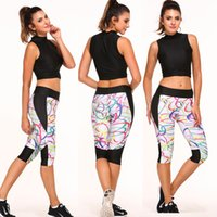 Wholesale Women Sports Yoga Pants Lulu High Elastic Compression Capris for Women Outdoor Gym Fitness Running Tights Leggings Capri Yoga Pants