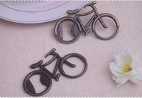 Aluminum Alloy beer presents - 100PCS Vintage Metal Bicycle Bike Shaped Wine Beer Bottle Opener For Cycling Lover Wedding Favor Party Gift Present