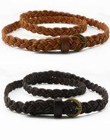 Wholesale 2016 Hot New Womens Belt New Style Candy Colors Hemp Rope Braid Belt Female Belt For Dress