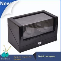 battery watch winder - High Glossy Suface Daul Channel Automatic Watch Winder Adaptor AAA Battery Modes Cherry Wooden automatic Watch Winder