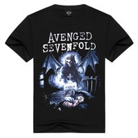 avenged sevenfold t shirts - European Personality Man Full Cotton Short Sleeve T shirts for men Pity Avenged Sevenfold Seven Times Retribution Band dt t shirt fashion