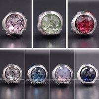 al por mayor joyería de plata del zodiaco-El nuevo encanto de la serie de la piedra lunar de la joyería de 2017 mujeres del resorte rebordea S925 la plata esterlina apta DIY Pandora Brazaletes HF014