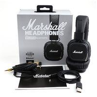 Wholesale Marshall Major II Bluetooth Wireless Headphones in Black DJ Studio Headphones Deep Bass Noise Isolating headset for iphone Samsung