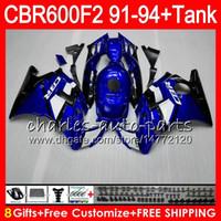 Comression Mold For Honda CBR600 F2 8 Gifts 23 Colors For HONDA CBR600F2 91 92 93 94 CBR600RR FS 1HM8 gloss blue CBR 600F2 600 F2 CBR600 F2 1991 1992 1993 1994 black Fairing