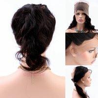 Precio de Frontales del cordón de la onda del cuerpo brasileño-Plucked 360 frente de encaje frontal de encaje 8A frontales con el cabello del pelo Natural Hairline onda brasileña del cuerpo 360 de encaje Virgin cabello