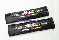 Wholesale 2Pcs SET Car auto truck Mugen Power Carbon Fiber Vehicle Great Quality Seat Belt Cushions Shoulder Pads
