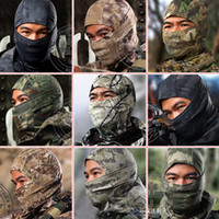 Wholesale 10Color Camouflage Multicam Balaclava Tactical Airsoft Hunting Outdoor Military Motorcycle Ski Cycling Protection Full Face Mask