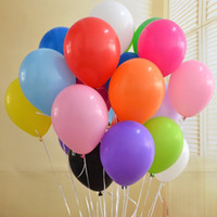 Latex advertising air balloons - 12 Inch Latex Balloons Globos Party Air Balloons Birthday Decoration Ballons Pink Purple Party Wedding Decoration g B011