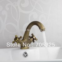 Wholesale Antique Sumptuous and Reasonable in Price Basin Faucet Durable Handle and Single Hole Hot Cold Water Mixer Excellent Basin Faucet