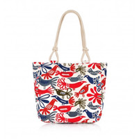 Wholesale Binlion Bohemian Bird Pattern Casual Style Beach Tote Bag