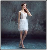 Wholesale Short Fairy Lights - 2016 Charming short ball gown cocktail party dress Beaded v neck fairy white Velvet Prom Formal Evening wear sweety homecoming Dress